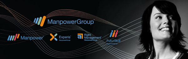 Logo by Martin Agency for international employment agency Manpower