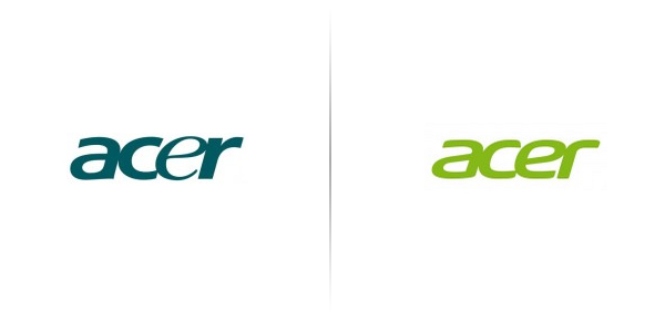 New logo designed for Chinese computer component and peripheral manufacturer Acer