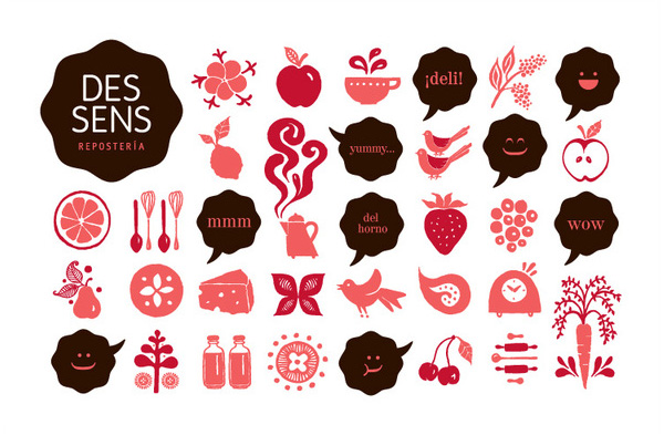 Logo designed by Laura Méndez for boutique bakery Des Sens