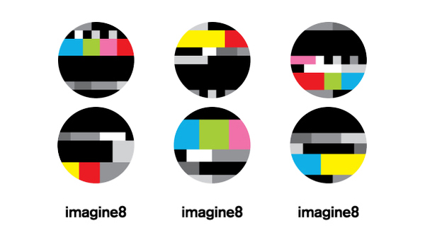 Logo designed by Blow for video production, sound design and DJ management business Imagine8