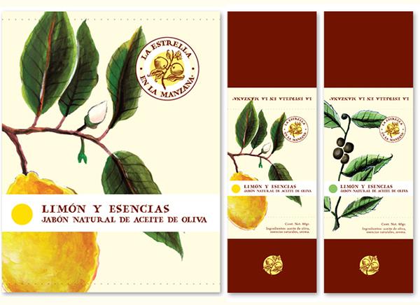 Print by Estudio Menta and Laura Méndez for soap brand La Estrella en La Manzana
