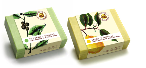 Packaging and visual identity by Estudio Menta and Laura Méndez for soap brand La Estrella en La Manzana