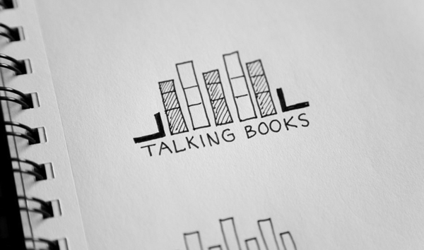 Logo concepts designed by Adrian Walsh for Canadian audio-book retailer Talking Books