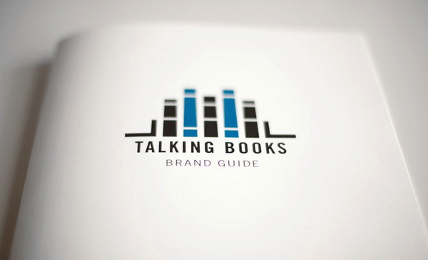 New logo and print designed by Adrian Walsh for Canadian audio-book retailer Talking Books
