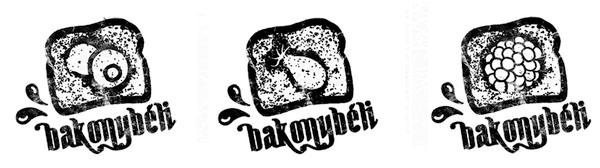 Logo by Dora Novotny for premium Hungarian jam Bakonybéli