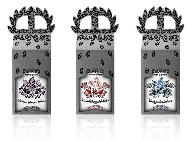 Packaging designed by Dora Novotny for premium Hungarian jam Bakonybéli.