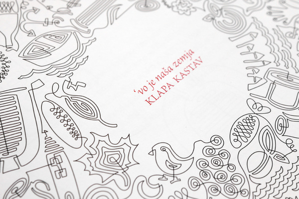 Illustrated packaging designed by Cipmann for Croatian acapella release Klapa Kastav