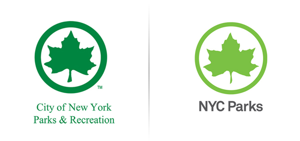 New logo by Pentagram for New York's park land, properties, and attractions
