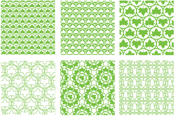 Patterns designed by Pentagram for New York's park land, properties, and attractions