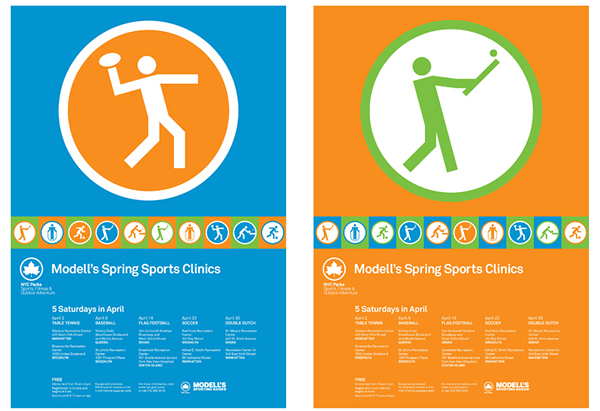 Posters designed by Pentagram for New York's park land, properties, and attractions