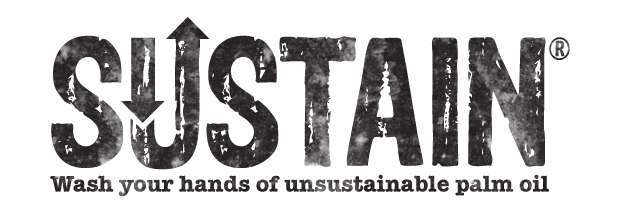 Logo designed by Simon Inman for sustainable palm oil soap brand Sustain