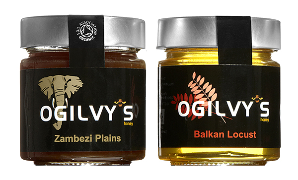 Packaging for unblended, traceable and sustainable monofloral and polyfloral honey importer Oglivy's