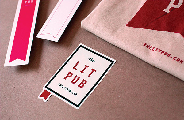 Logo and print designed by Fuzzco for on-line publisher of independent authors The Lit Pub