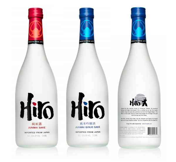 Packaging for Hiro Sake by monday Collective