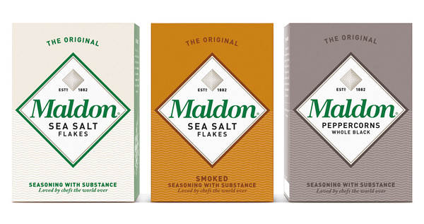 Maldon Salt - Branding and packaging design by Pearlfisher