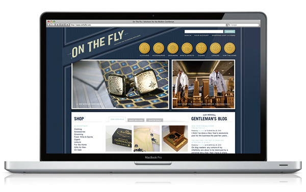 Logo and website designed by Hatch for luxury men's goods retailer On The Fly