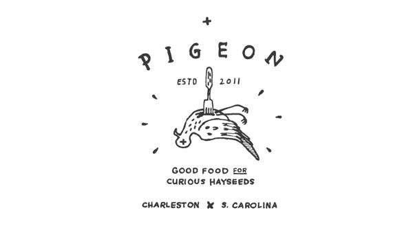 Logo designed by Fuzzco for South Carolina pop-up eatery Pigeon
