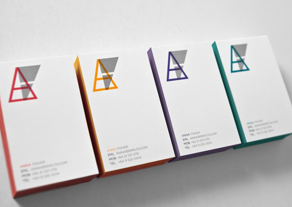 Logo, iconography and edge painted business cards for Auckland based brand strategy and design firm Brian R Richards