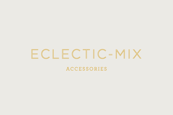 Logo designed by Because Studio for fashion accessory label Eclectic-Mix