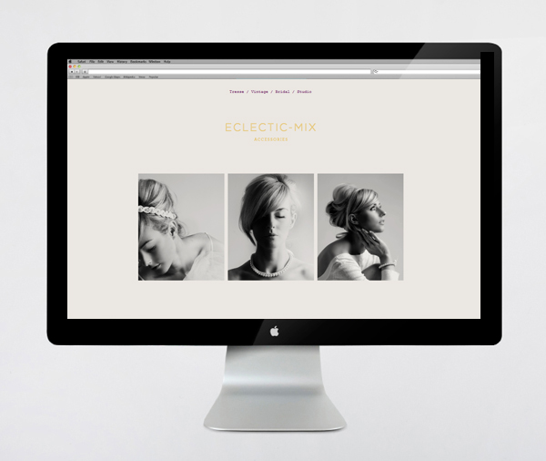 Brand identity and website by Because Studio for fashion accessory label Eclectic-Mix