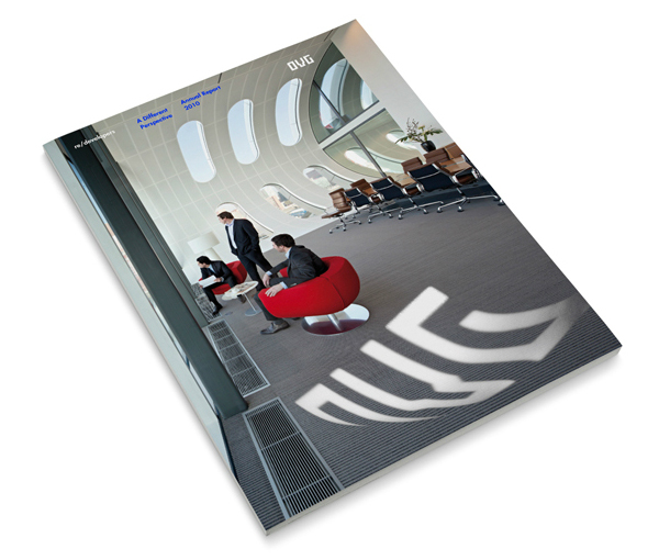 Print designed by Studio Dumbar for development, redevelopment and restoration firm OVG