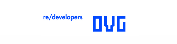 Logo designed by Studio Dumbar for development, redevelopment and restoration firm OVG