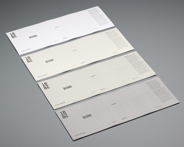Logo and stationery designed by Pentagram for contemporary bone china designer Emily Johnson