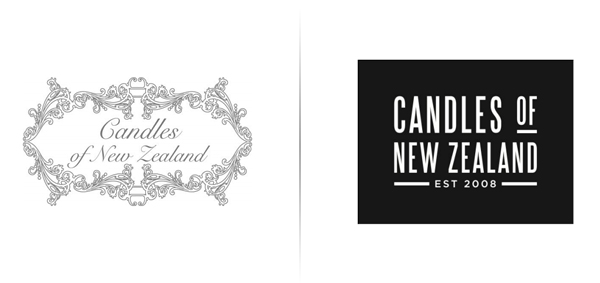 Logo designed by Family Design Co. for handcrafted, traditionally produced candle brand Candles of New Zealand
