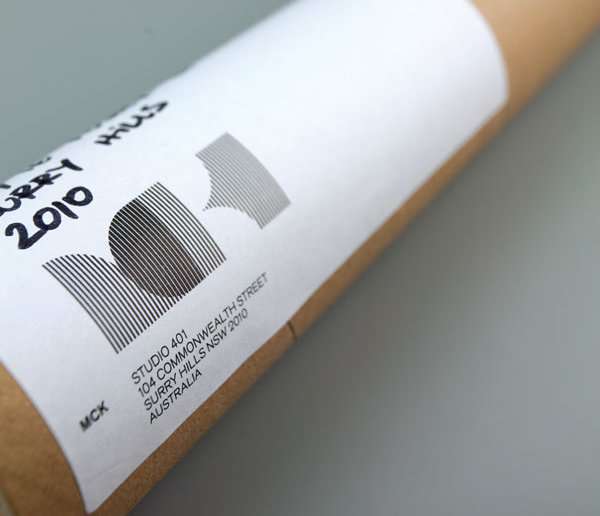 Logo and tube stickers designed by There for Sydney based architectural firm MCK