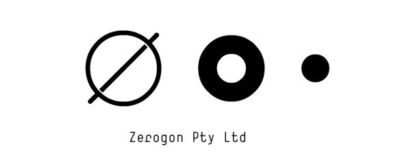 Logo designed by Nicholas Hawker for Australian software engineering firm Zerogon