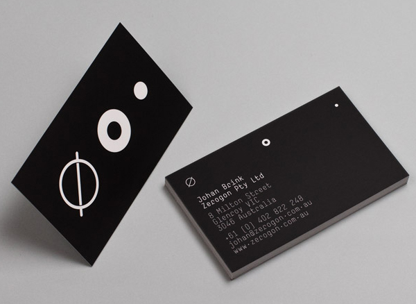 Logo and business cards designed by Nicholas Hawker for Australian software engineering firm Zerogon