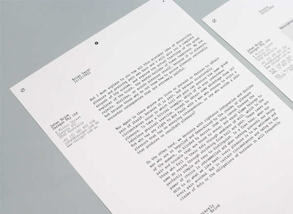 Logo and stationery designed by Nicholas Hawker for Australian software engineering firm Zerogon