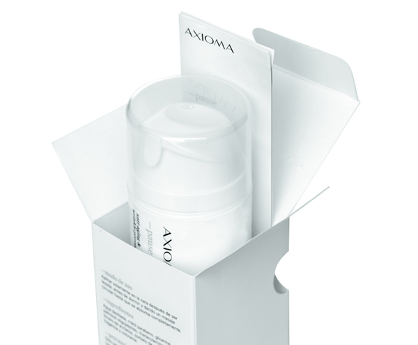 Packaging for high quality and active skincare brand Axioma designed by Anagrama