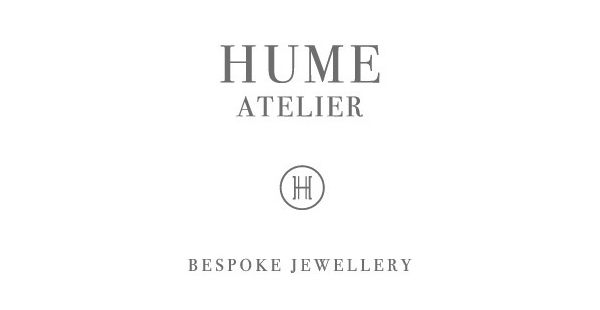 Logo design by Glasfurd & Walker for bespoke jewellery design and production studio Hume Atelier