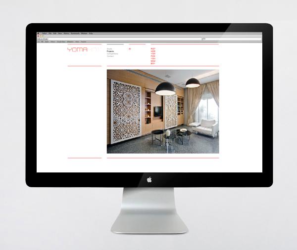 Logo and website design by Kobi Benezri for Jerusalem-based architecture practice Yoma