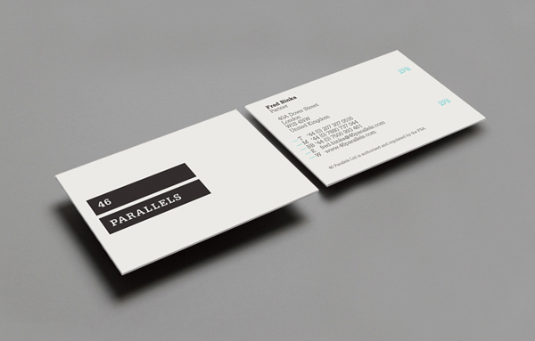 46 Parallels - Logo and stationery design by Moving Brands