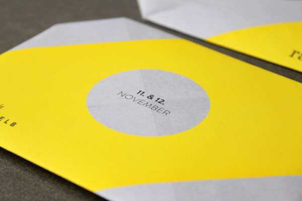 Print work by Leib Und Seele for Heilbronn based bar Ray Lemon's monthly event Menu in Yellow