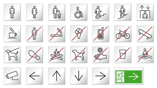 Icons designed by Studio Najbrt for CZ Ministry of Foreign Affairs