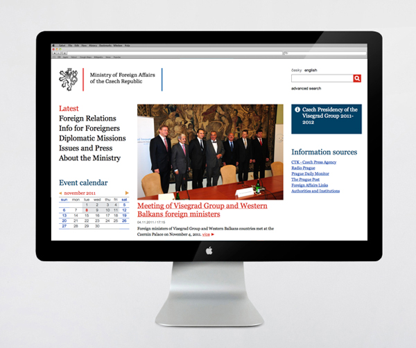 Website designed by Studio Najbrt for CZ Ministry of Foreign Affairs