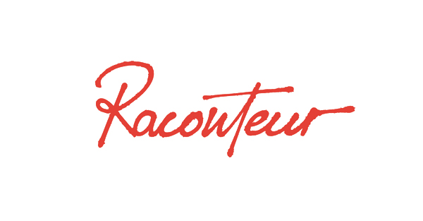 Hand drawn script logotype created by Christian Bielke for web production and advertising company Raconteur