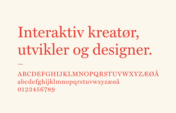 Typeface for web production and advertising company Raconteur