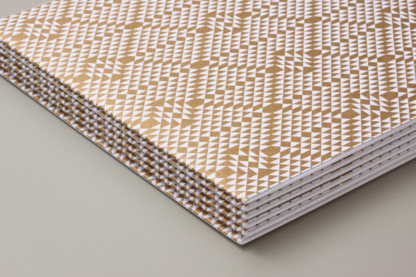 Print with gold metallic spot colour detail designed by Rocío Martinavarro for textile producer Zeri Crafts