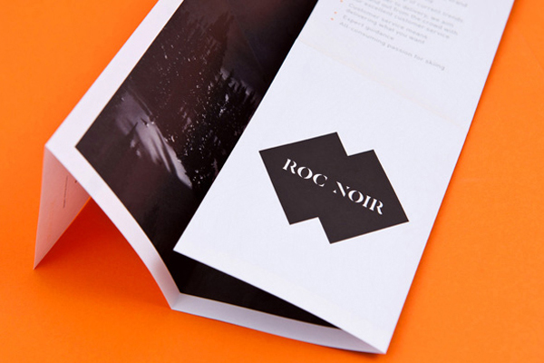 Logo and print designed by 400 for Roc Noir, a UK boutique retailer of high quality Ski equipment
