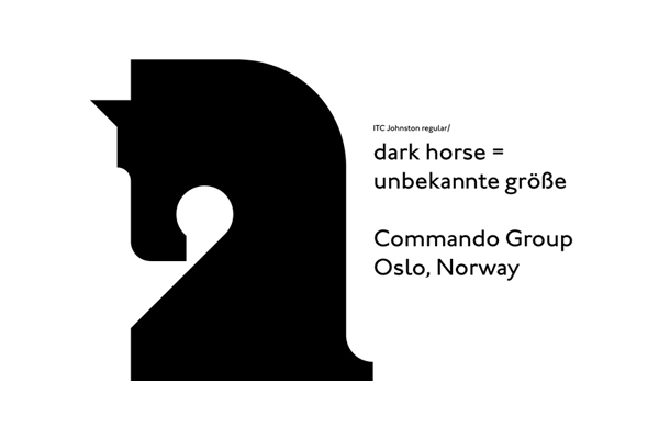 Logo created for and by Oslo based multidisciplinary visual communications agency Commando Group