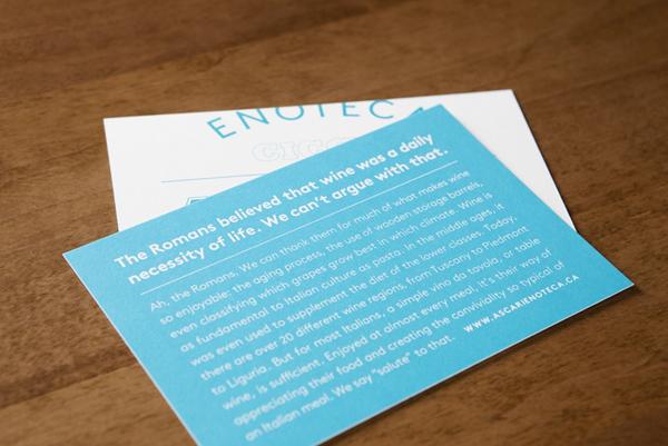 Logo and business cards designed by Blok for Toronto based Italian restaurant Ascari Enoteca
