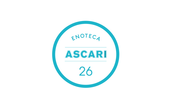 Logo designed by Blok for Toronto based Italian restaurant Ascari Enoteca