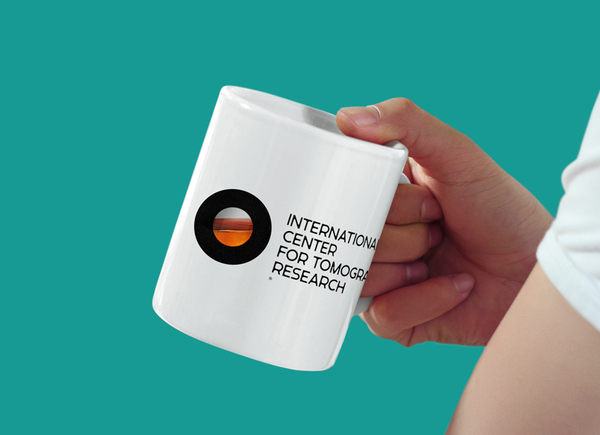 Logo and mug concept created by Tomat Design for The International Center for Tomographic Research