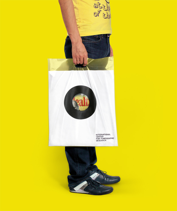 Logo and plastic bag created by Tomat Design for The International Center for Tomographic Research
