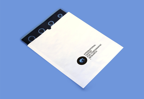 Scan sleeve created by Tomat Design for The International Center for Tomographic Research
