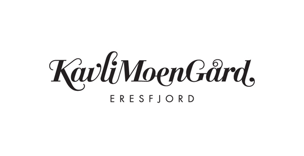 Logotype created by Strømme Throndsen Design for Norwegian guest house, farm and restaurant Kavli Moen Gård